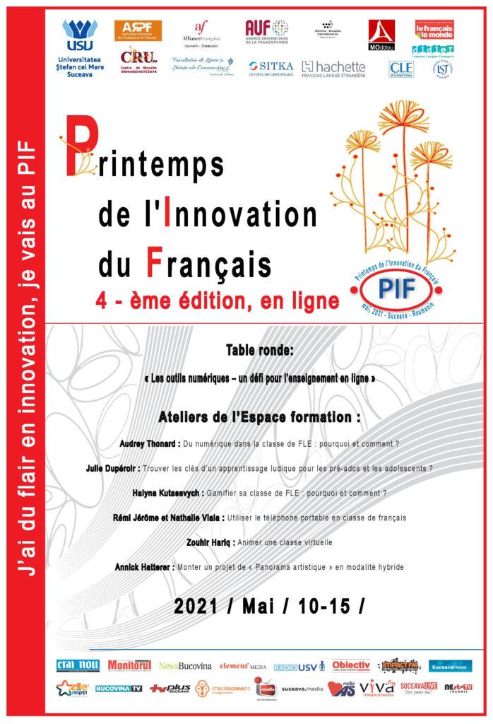 Stagiul de formare Printemps de l'Innovation du Francais (PIF)